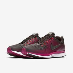 Nike Air Zoom Pegasus 34 Gem Women's Running Shoe- Shadow Brown/Rush Maroon/Metallic Pewter