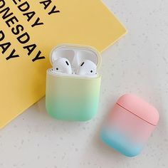 For AirPods Case Gradient Rainbow Color Protective hard Cover Bluetooth Wireless Earphone Case For Air pods 2 cover fundas