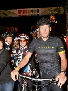 Lance Armstrong Cycles In Durango, Mexico and Leads The 15th Annual Durango To Mazatlan Ride on September 21, 2012 in Durango, Mexico