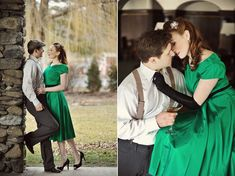 Photo Fridays | 1940's Vintage Glam Engagement