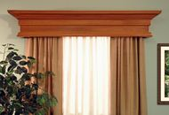 The Danville custom wood cornice has colonial crown molding and large dentil molding details. It's the perfect wood valance for your home. Window Cornice Diy, Wooden Valance, Window Cornices, Window Coverings, Window Treatments, Cornice Ideas, Curtain Ideas, Curtain Designs, Cornice Design