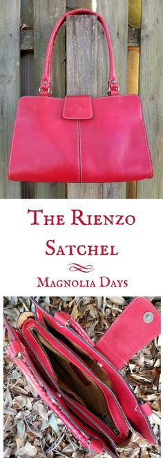 Made from Italian leather, the Rienzo satchel by Patricia Nash Designs comes in a variety of colors. Get an up close look at my Rienzo satchel, inside and out, in this handbag review. via @magnolia_days