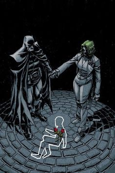 This is an alternate universe where Bruce Wayne died instead of his parents. Causing His father Thomas Wayne to become Batman and his mother Martha to go insane and become the Joker.