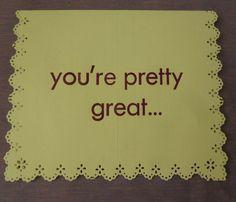 my first letterpress card