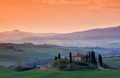 Parece uma pintura! Assim é a Toscana,região da Itália. Um roteiro pra lá de romântico. #dica pra lua de mel