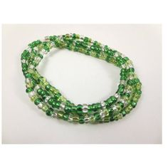 Green Elastic Stretch Bracelet/ Stackable Beaded Bracelet/ Bracelet Set/ Spring Bracelets/ Lightweight Bracelets/ Gift for her/ Stretch Cord