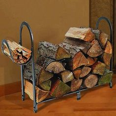 You need a indoor firewood storage? Here is a some creative firewood storage ideas for indoors. Lots of great building tutorials and DIY-friendly inspirations! Indoor Log Storage, Indoor Firewood Rack, Firewood Holder, Firewood Shed, Firewood Storage, Fireplace Accessories, Hearth, Diy Home Decor, Home Improvement