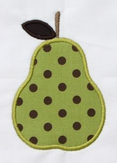 INSTANT DOWNLOAD Pear Applique Designs by DBembroideryDesigns