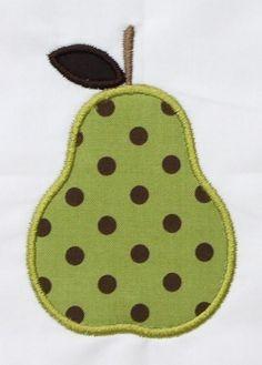 INSTANT DOWNLOAD Pear Applique Designs por DBembroideryDesigns