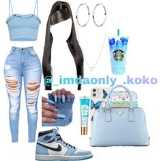 Baddie Outfits Casual, Swag Outfits For Girls, Cute Outfits For School, Teenage Girl Outfits, Chill Outfits, Cute Swag Outfits, Cute Comfy Outfits, Girls Fashion Clothes, Teenager Outfits