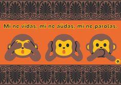 File:Mi ne vidas, mi ne amdas, mi ne parolas. -eo.svg Esperanto Language, Wikimedia Commons, My Passion, Learning, Frases, Languages, Writing, Europe, My Crush