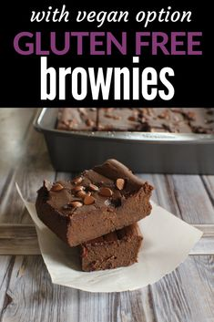 Naturally gluten free, yet so chocolatey and fudgy. These brownies have a secret ingredient that makes them so good! #brownies #vegetarian #vegan #easybrownies #glutenfreebrownies #flourlessblackbeanbrownies Best Gluten Free Recipes, Gluten Free Desserts, Sweet Recipes, Real Food Recipes, Snack Recipes, Bean Recipes, Easy Snacks, Yummy Snacks, Brownie Ingredients