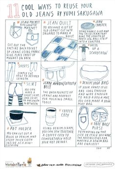 11 Cool Ways to Reuse Old Jeans « The Secret Yumiverse