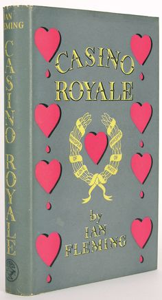 The first edition of Ian Fleming's debut 007 novel, Casino Royale from 1953 - look at that dust jacket.