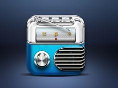 Radio iOS icon found on Dribbble.