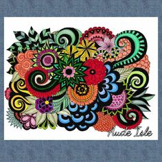 Creation by aude isle, coloring page from the gallery Flower and vegetation