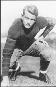 The young and handsome football player, Marion Michael Morrinson, A.K.A John Wayne