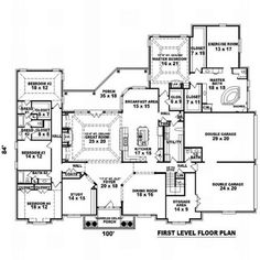6 Bedroom House Plans, Coastal House Plans, French Country House Plans, Beach House Plans, Duplex House Plans, Southern House Plans, Craftsman Style House Plans, Dream House Plans, House Floor Plans