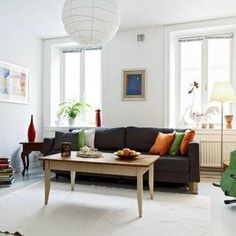 Small Living Room Ideas With Simple Furniture And White Paper Lighting And White Walls , Great Small Living Room Ideas In Living Room Category