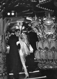 Gardner McKay and Suzy Parker in evening dress by Patou , photo by Avedon at Le Sheherazade, Paris, August 1956 | by skorver1