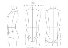 Underwear man male body figure fashion template (D-I-Y your own Fashion Sketchbook)