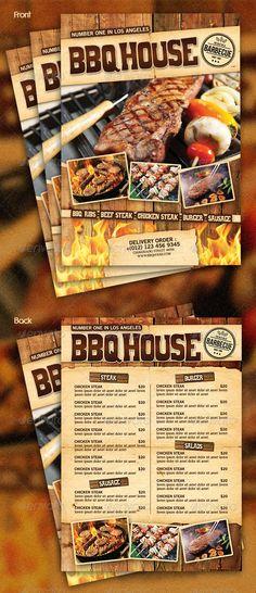 BBQ / Steak Menu Flyer
