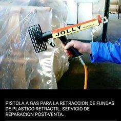 Pistola a gas para la retraccion de fundas de plastico retráctil. Servico de reparacion post-venta