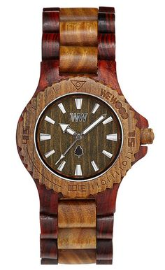 WeWOOD DATE BROWN/ARMY 100% wood watch about 140bucks. Plus they plant a tree when you buy a watch.