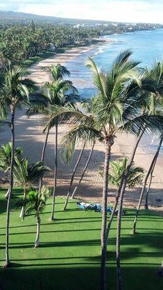 Mana Kai Beach, Maui, Hawaii By Gary Sutton Palm trees Aloha Hawaii, Hawaii Travel, Beautiful Places To Visit, Beautiful Beaches, Places To Travel, Places To Go, Hawaiian Islands, Beautiful Islands, Vacation Spots