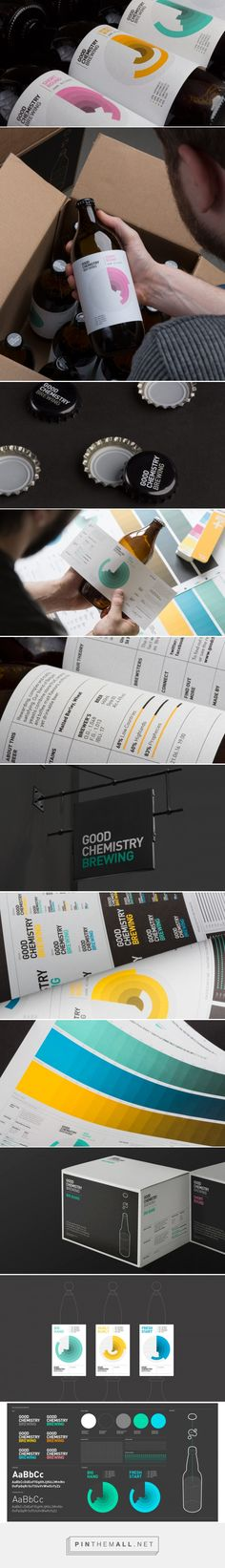 Naming, brand identity and packaging for Good Chemistry brewing by Confederation Studio curated by Packaging Diva PD. Each beer represented by an infographic that would accurately breakdown the specific flavours and peppered with geeky beer related facts accompanied by technical illustrations.