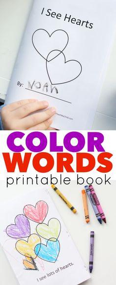 Printable Color Word