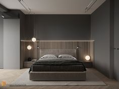 Фото спальня из проекта «Просторная квартира в современном стиле, ЖК «Duderhof Club», 146 кв.м.»