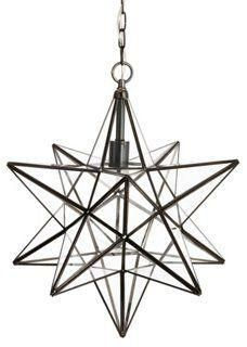 Hudson Celestial Star Pendant Lantern Light -- A One Kings Lane exclusive: This hanging lantern in a starburst shape evokes a stunning pendant. The many panes of glass ensure brilliance from every angle. Hardwired.
