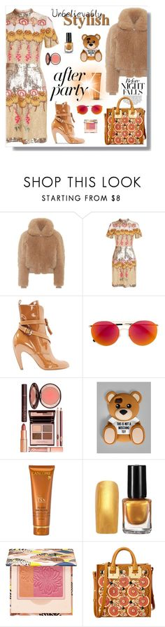After Party by neverboring on Polyvore featuring Temperley London, Acne Studios, Louis Vuitton, Sophie Hulme, Moschino, Linda Farrow, Paul & Joe, Lancôme, Charlotte Tilbury and NYFW