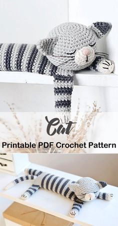 Crochet Cat Pattern, Crochet Quilt, Crochet Bear, Cute Crochet, Crochet Animals, Crochet Crafts, Crochet Projects, Animal Knitting Patterns, Stuffed Animal Patterns