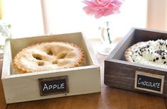 Rustic Chic Pie Carrier Hostess Gift