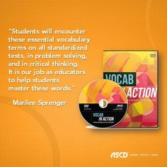 This #ProfDev DVD features the critical #vocabulary words that students at every grade level need to know to achieve success on standardized tests