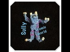 Rainbow Loom Monster's Inc - SULLY figure. Designed and loomed by Tash Webber at Loomie World. Click photo for YouTube tutorial. 08/08/14.