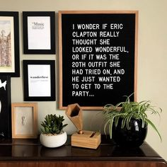 HIVE'TIQUE letter boards www.hivetique.com £40 We hear ya, Eric! The outfit struggle is real... #hivetiquequotes . . . . #ericclapton #hivetique #letterboard #pegboard #funnyquotes…