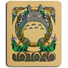 Hot Totoro Art Nouveau Anime Game Gaming Mouse Pad - Cute Gift Studio Ghibli