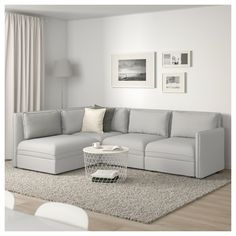VALLENTUNA Mod sectional, 3 seat w slpr sect, and storage/Orrsta light gray. One sofa, lots of possibilities. At Home Furniture Store, Modern Home Furniture, Sofa Furniture, Living Room Furniture, Small Furniture, Modular Corner Sofa, Modular Sofa, Corner Sofa Bed With Storage, Corner Couch
