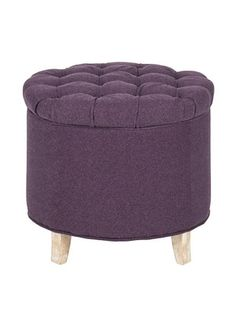 Safavieh Amelia Tufted Storage Ottoman, Plum