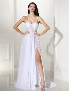 Column Boho Bohemian Lace Sheath Sweep Train Sweetheart Backless Sleeveless Crystal Wedding Dress Beach Dresses