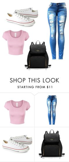 """Untitled #4"" by abby017 ❤ liked on Polyvore featuring Converse"