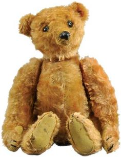 Artdaily.org - The First Art Newspaper on the Net Steiff apricot mohair rod teddy bear with elephant button in ear, circa 1905, German, accompanied by X-ray showing interior rod mechanism, est. $10,000-$12,000. All images courtesy of Bertoia Auctions.
