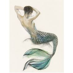 Mermaid I Canvas Wall Art (€265) ❤ liked on Polyvore featuring home, home decor, wall art, art, effects, bodies, drawings, backgrounds, whimsical home decor and whimsical wall art