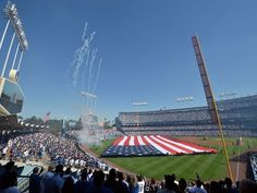 Scenes from MLB Opening Day 2018 - A view of Dodger Stadium before the game against the Giants.  Gary A. Vasquez, USA TODAY Sports