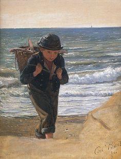 Carl Bloch - A Fisher-boy, ca. 1856