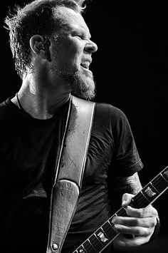 James Hetfield. He is the lead singer for Metallica. My dad got me hooked as a little girl.