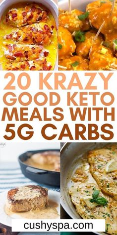 Eating more low carb meals on your ketogenic meal plan can be so much easier when you make these incredible under 5g carb meals for the keto diet. You can enjoy more delicious keto dinners this week. #Ketogenic #LowCarb
